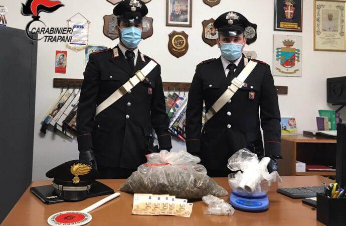 Un marsalese arrestato dai carabinieri per detenzione finalizzata allo spaccio di stupefacenti