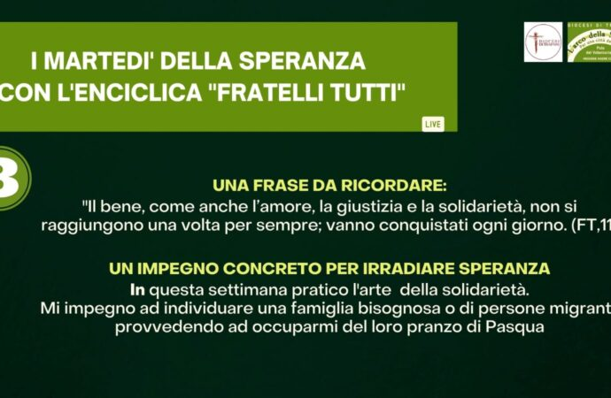 """Diocesi Trapani, stasera  appuntamento online con i """"martedì della speranza"""""""