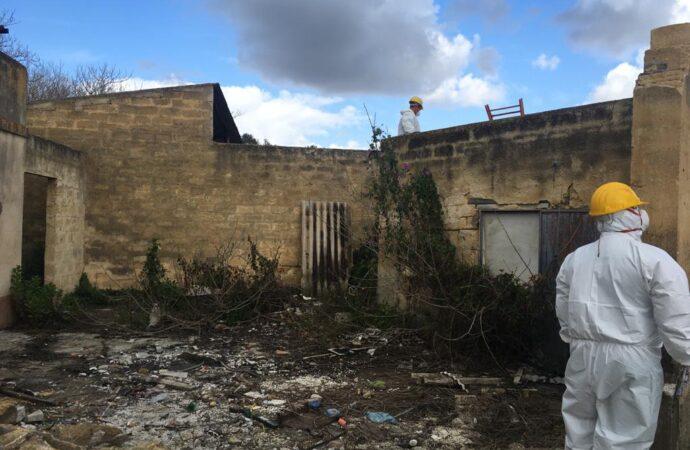 Mazara, rimozione dell'amianto presente nell'ex casello di via Mongitore