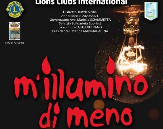 """Partanna, il comune aderisce all'iniziativa """"M'illumino di Meno"""""""
