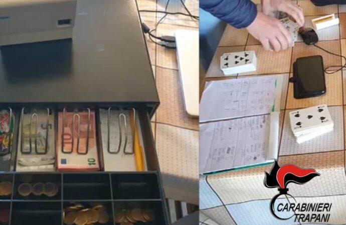 I carabinieri scoprono una bisca clandestina a Petrosino, scattano una denuncia e 14 multe