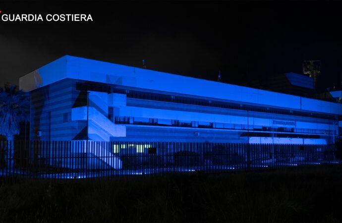 Giornata Mondiale della Consapevolezza dell'Autismo, la Capitaneria di porto di Mazara si tinge di blu