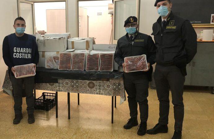 I finanzieri del comando provinciale Palermo sequestrano prodotti ittici ad una ditta di Mazara del Vallo