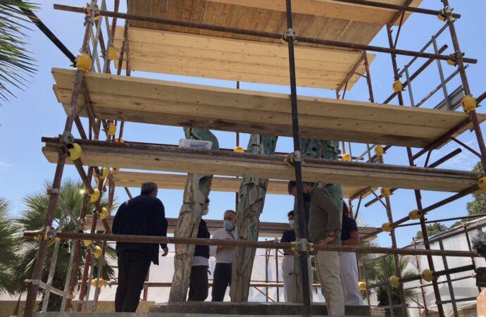 VIDEO – Mazara, inaugurato il cantiere per il restauro della fontana del Consagra
