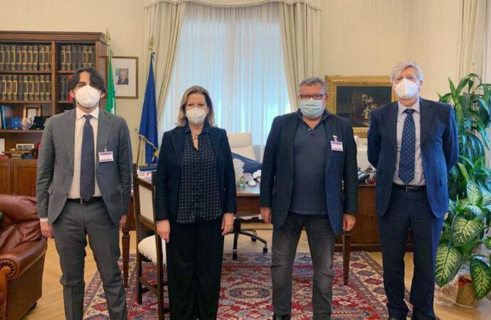 Il sindaco di Favignana incontra a Roma i vertici del Corpo dei Vigili del Fuoco