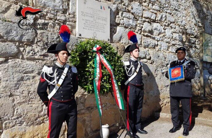 Erice, celebrato il 29esimo anniversario della morte del carabiniere Esposito