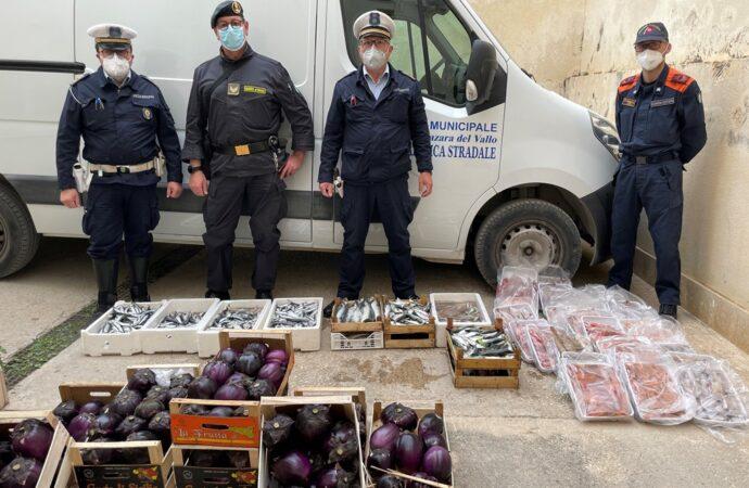 Mazara, sequestrati prodotti ittici ed ortofrutticoli a venditori abusivi