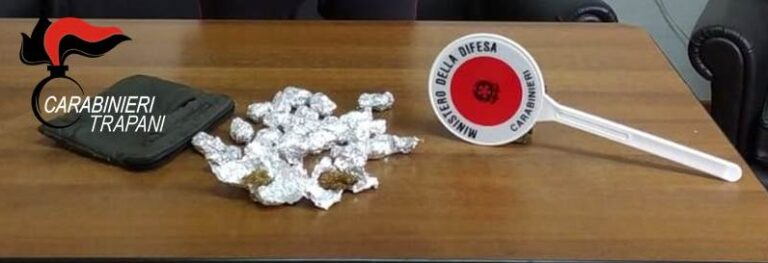 Controlli antidroga, due persone arrestate dai carabinieri di Alcamo