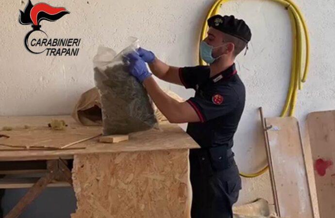 Mazarese sorpreso con 5 kg di marijuana, arrestato dai carabinieri