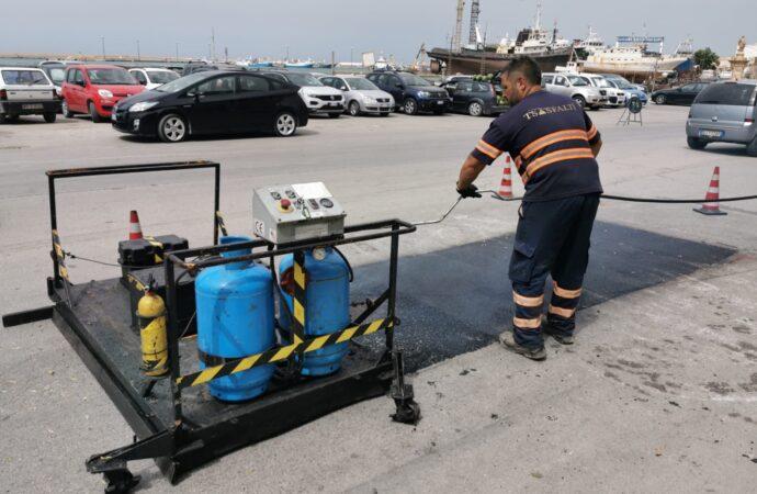 Mazara, iniziata la riparazione buche con il metodo infrarossi a caldo