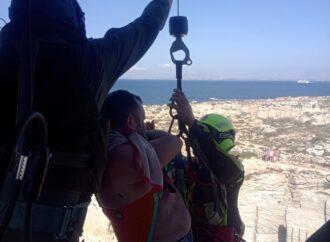 Favignana, l'82° Centro Csar ha soccorso un escursionista infortunato presso Cala Rossa