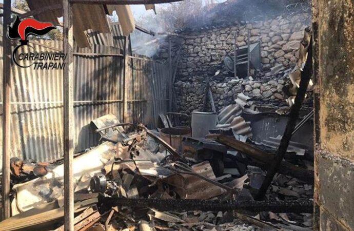 Partanna,un denunciato per i reati di incendio e danneggiamento aggravato