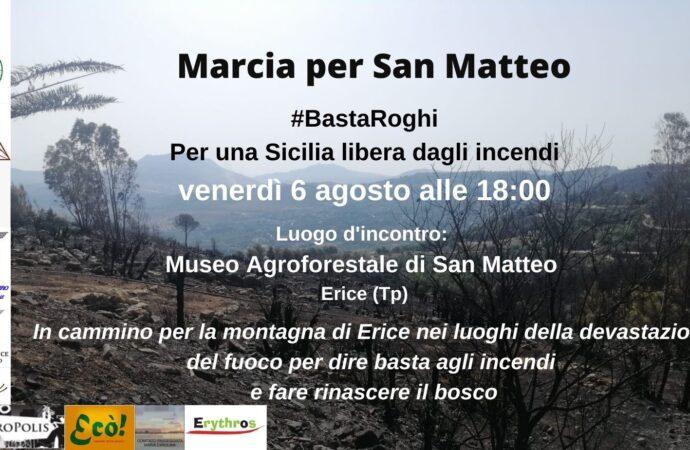 "Incendi, oggi a Erice la ""Marcia per San Matteo"""