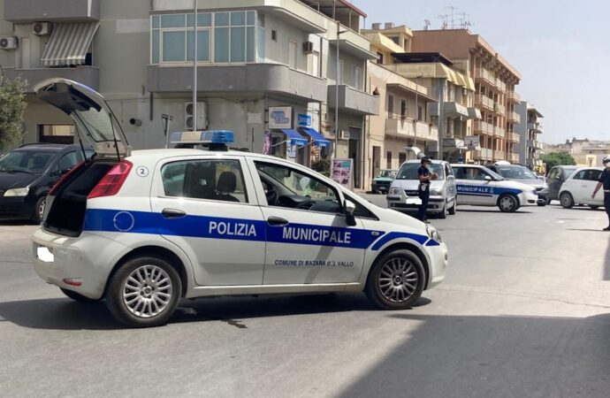 Mazara, incidente in via Emanuele Sansone