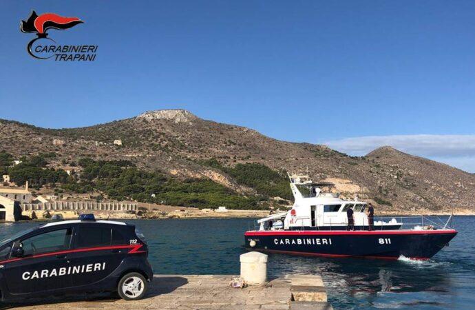 Favignana, servizio coordinato di controllo dei carabinieri