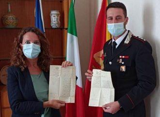 Calatafimi Segesta,  riconsegnati al comune dai carabinieri documenti del 1863