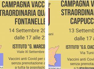 Trapani, campagna vaccinale straordinaria il 13 e 14 Settembre a Cappuccinelli e Fontanelle