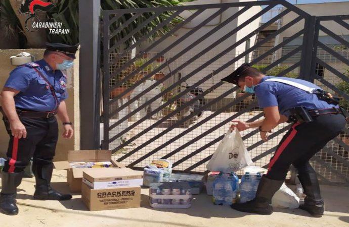 Covid, i carabinieri di Mazara fanno la spesa a una famiglia