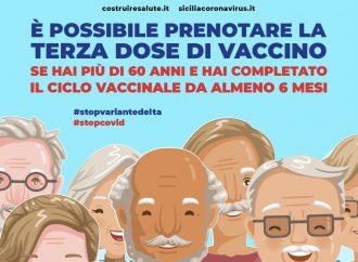 Vaccini: terze dosi, in Sicilia al via la prenotazione per gli over 60