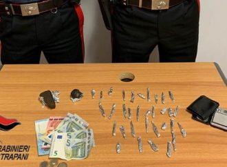 Blitz antidroga dei carabinieri a Erice, in manette un 22enne