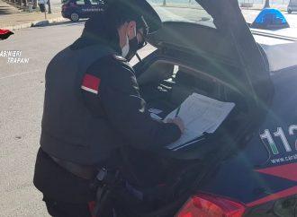 Controlli del territorio dei carabinieri di Trapani, un uomo arrestato e tre denunciati